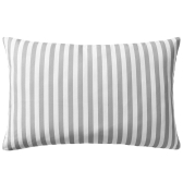 Garden cushions 2 pcs. Stripe pattern 60 x 40 cm Gray