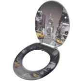 Туалет сиденье для унитаза сиденье MDF New York Design