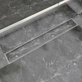 doccia scarico lineare in acciaio inox 830x140 mm