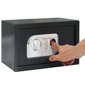 31 x 20 x 20 cm Dunkelgrauer digitaler Safe mit Fingerabdruck