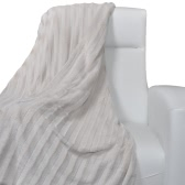 Beige Artificial Fur Throw Blanket 150 x 200 cm