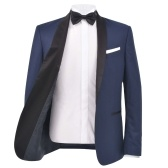 132181 Traje de cena con corbata negra de 2 piezas para hombre / Smoking Talla de smoking 46 Azul marino