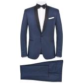 132183 Traje de cena con corbata negra de 2 piezas para hombre / Smoking Talla de smoking 50 Azul marino