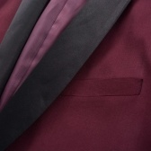 132188 Traje de 2 piezas para hombre con corbata negra / smoking Talla de smoking 48 Rojo