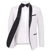132198 Traje de 2 piezas para hombre con corbata negra / Smoking Tuxedo Size 56 Blanco