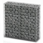 Gabion Basket Wall with Lids Galvanized Wire 100 x 100 x 30 cm