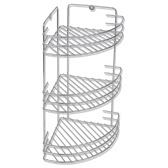 Wall Mounted Metal Shower Corner Shelf 3-Tier