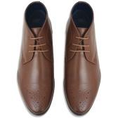 Botas com cordões para homens Brown Size 43 PU leather