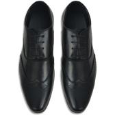 Sapatos masculinos Lace-up preto tamanho 40 PU couro