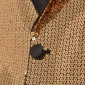 Мужское золото с блестками Вечерний смокинг Размер блейзера 50