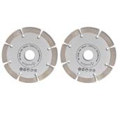 2 disques diamantés pour meuleuse 230 mm