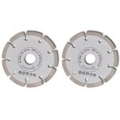 2 disques diamantés pour meuleuse 180 mm segment 10mm