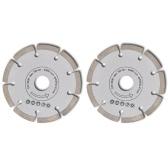 2 disques diamantés pour meuleuse 230 mm segment 10mm