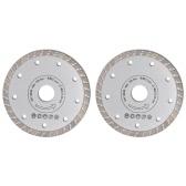 2 disques diamantés turbo pour meuleuse 180 mm 2,2 mm