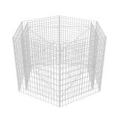 Плоттер с шестиугольником габион 160 x 139 x 100 см