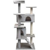 Árvore de gato com arranhões de sisal 125 cm cinza