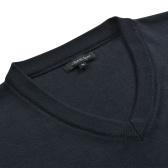 Jersey de hombre cuello de pico azul marino M