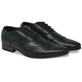Zapatos de vestir hombre calados cordones negros t 40 cuero PU