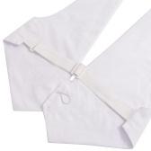 Cravate blanche avec nœud papillon pour homme Cravate blanche