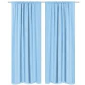 Rideaux opaques 2 unités double couche 140x175 cm turquoise