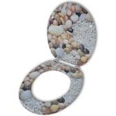 木製のトイレカバーMDF、パターン化された石