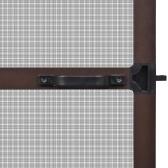 """Pantalla de insectos con bisagras de color marrón para puertas 39.4 """"x84.6"""""""