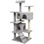 Scraper for cats with gray sisal scraper 125 cm