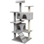 Скребок для кошек с серым сизальным скребком 125 см