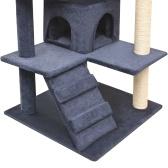 Schaber für Katzen Sisal Scraper Pole 125 cm dunkelblau