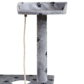 Schaber für Katzen Sisal Schaber Post 150 cm graue Fußabdrücke