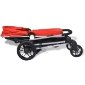 Stroller / 2-in-1 Pram in Aluminum Red and Black