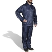 Full Waterproof Navy Hooded L 2 pcs for Men