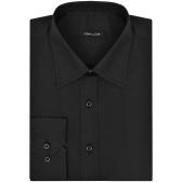 Herren Business S Shirt Schwarz
