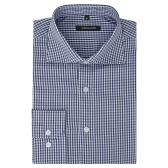 Camisa Business Blanco y Azul Marino Talla L