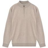 Męski sweter z beżowym zamkiem XXL