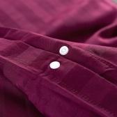 2pcs Set Cotton Satin Duvet Cover 155x220 / 80x80cm Red Burgundy