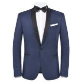 2 piezas Tuxedo / Ceremonia de los hombres Vestido Talla 46 Azul Marino