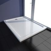 Piatto doccia rettangolare in ABS bianco 80 x 110 cm