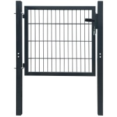 Anthracite Steel Fence Gate 106x150 cm