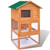 Кролик клетка на открытом воздухе для мелких домашних животных 3 деревянные полы