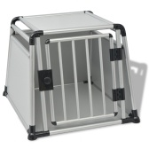 Cage de transport pour chien en aluminium L