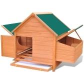 Poulailler en bois 157x97x110 cm