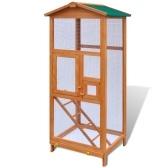 Деревянная клетка для птиц 65x63x165 см