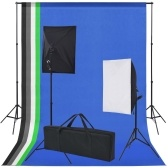 Photo Studio Kit 5 Fondos coloridos y 2 softboxes