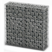 Trash Gabion wall with galvanized wire Covers 100 x 100 x 30 cm