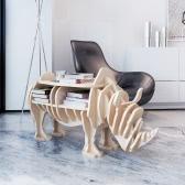 Drewno nosorożca Półka Organizator stół drewniany stół