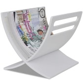 Wooden Magazine Rack Floor Standing White