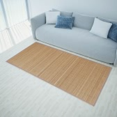 Rectangular Brown Bamboo Rug 80 x 300 cm