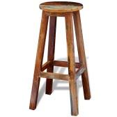 Барный стул из переработанного дерева