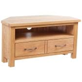 table TV avec 2 tiroirs 88 x 42 x 46 cm Chêne